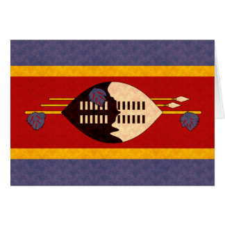 Vintage Pattern Swazi Flag Card