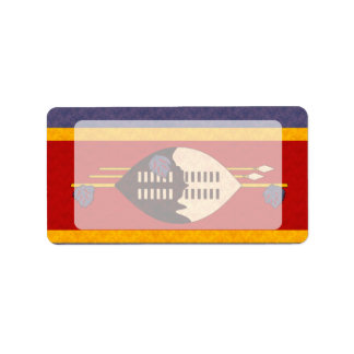 Vintage Pattern Swazi Flag Label
