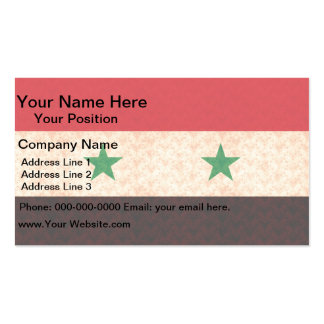 Vintage Pattern Syrian Flag Business Card Templates