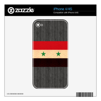 Vintage Pattern Syrian Flag iPhone 4S Decal