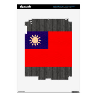 Vintage Pattern Taiwanese Flag Decal For iPad 3