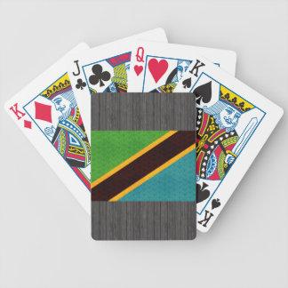 Vintage Pattern Tanzanian Flag Bicycle Playing Cards