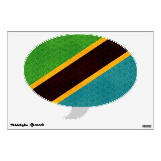 Vintage Pattern Tanzanian Flag Wall Sticker