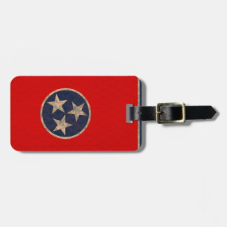 Vintage Pattern Tennessean Flag Bag Tag