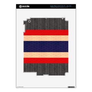 Vintage Pattern Thai Flag iPad 3 Decal