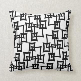 vintage pattern throw pillow black_white no2