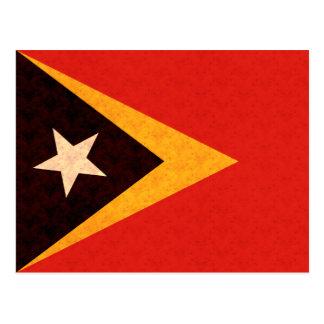 Vintage Pattern Timorese Flag Postcard
