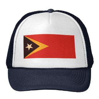 Vintage Pattern Timorese Flag Trucker Hat
