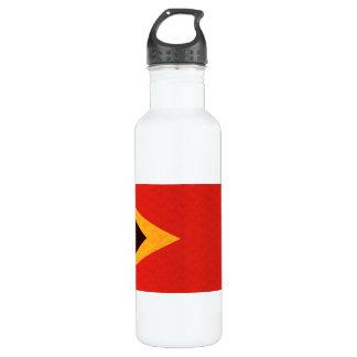 Vintage Pattern Timorese Flag Water Bottle