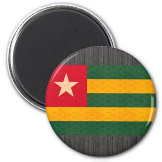 Vintage Pattern Togolese Flag Fridge Magnet