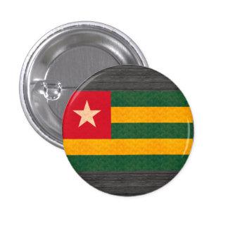 Vintage Pattern Togolese Flag Pinback Button
