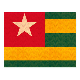 Vintage Pattern Togolese Flag Postcard