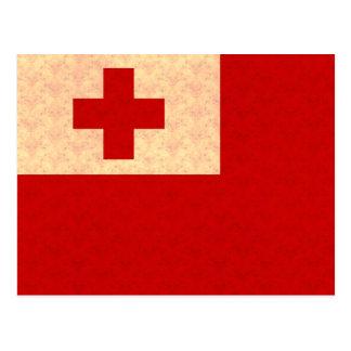 Vintage Pattern Tongan Flag Postcard