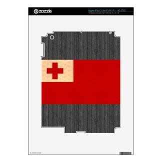 Vintage Pattern Tongan Flag Skins For iPad 3