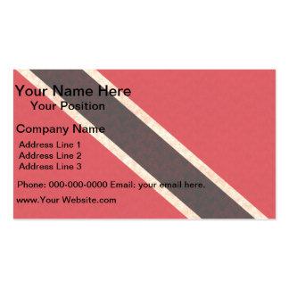 Vintage Pattern Trinidadian Flag Business Card
