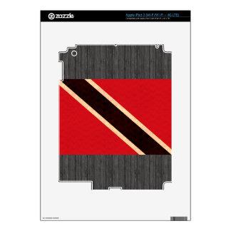 Vintage Pattern Trinidadian Flag iPad 3 Decals