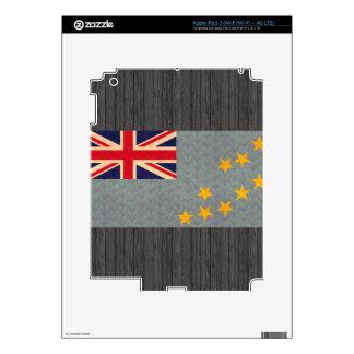 Vintage Pattern Tuvaluan Flag Skin For iPad 3