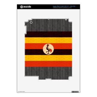 Vintage Pattern Ugandan Flag iPad 3 Decal