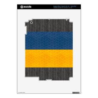 Vintage Pattern Ukrainian Flag Skins For iPad 3