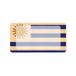 Vintage Pattern Uruguayan Flag Label