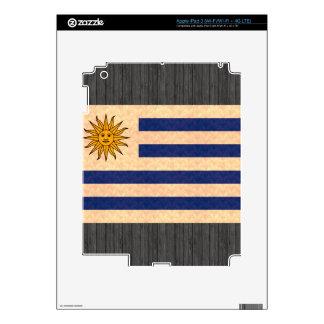 Vintage Pattern Uruguayan Flag Skins For iPad 3