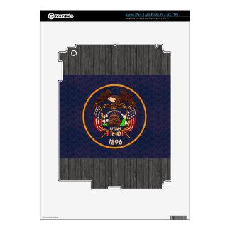 Vintage Pattern Utahn Flag Skins For iPad 3