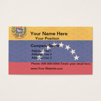 Vintage Pattern Venezuelan Flag Business Card
