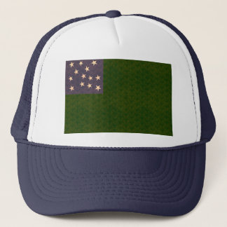 Vintage Pattern Vermont Flag Trucker Hat