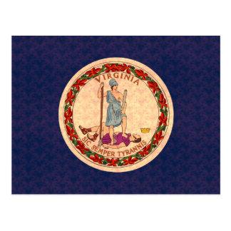 Vintage Pattern Virginian Flag Postcards