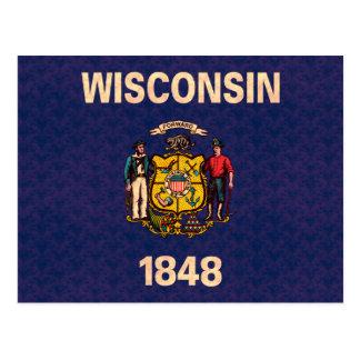 Vintage Pattern Wisconsinite Flag Postcard