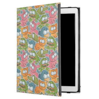 "Vintage pattern with cartoon animals iPad pro 12.9"" case"