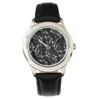 vintage pattern wrist watch