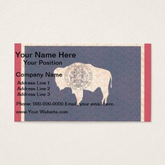 Vintage Pattern Wyomingite Flag Business Card