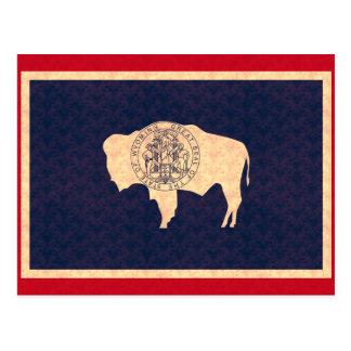 Vintage Pattern Wyomingite Flag Postcard