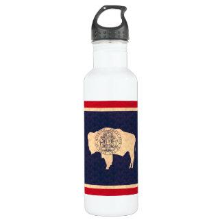 Vintage Pattern Wyomingite Flag Water Bottle