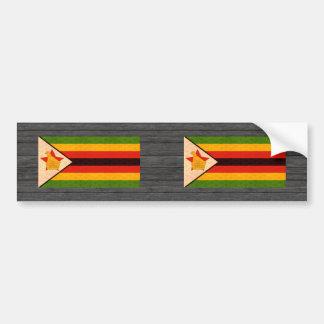 Vintage Pattern Zimbabwean Flag Bumper Stickers