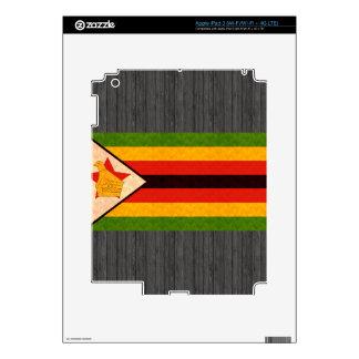 Vintage Pattern Zimbabwean Flag Skins For iPad 3