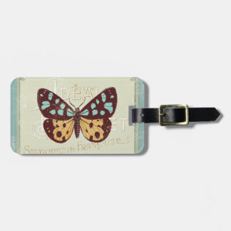 Vintage Patterned Butterfly Bag Tag