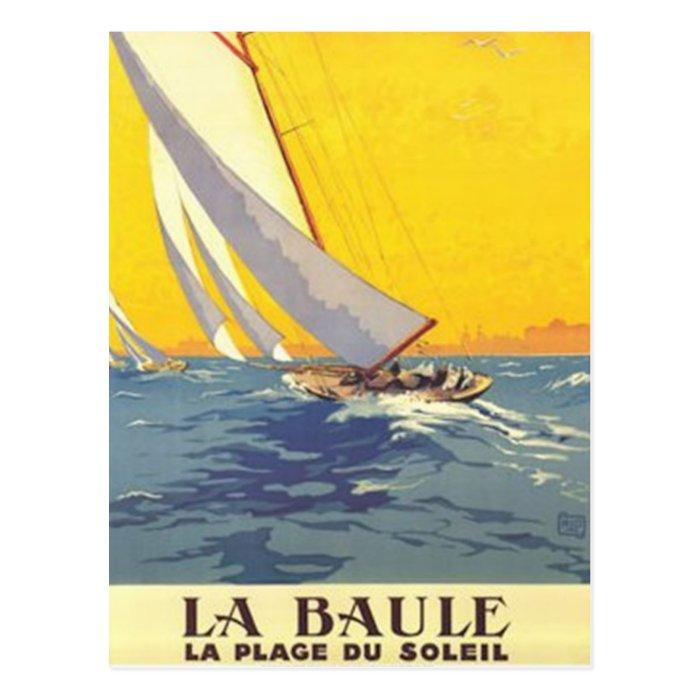 Vintage Pays de la Loire , La Baule, France - Postcard
