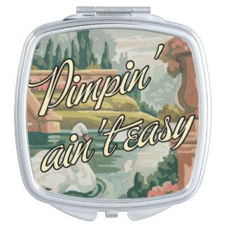 "Vintage PBN Swans Mirror ""Pimpin' Ain't Easy"" Travel Mirrors"