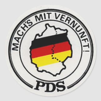 vintage PDS (old SED)  1990 elections ostalgie Classic Round Sticker