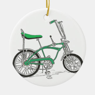 Vintage Pea Picker Green Sting Ray Bike Bicycle Ceramic Ornament