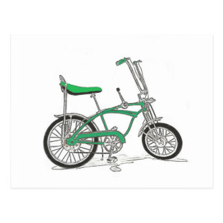 Vintage Pea Picker Green Sting Ray Bike Bicycle Postcard