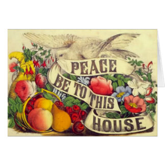 "Vintage ""Peace Be To This House"" - Card"