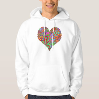 Vintage Peace Love Heart Pullover