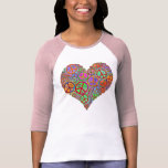 Vintage Peace Love Heart Tshirts