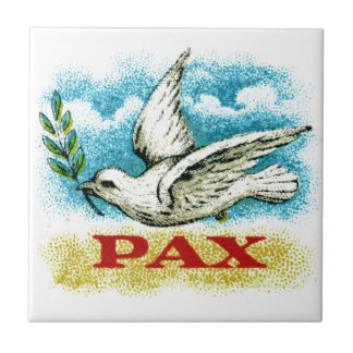Vintage Peace on Earth Ceramic Tile