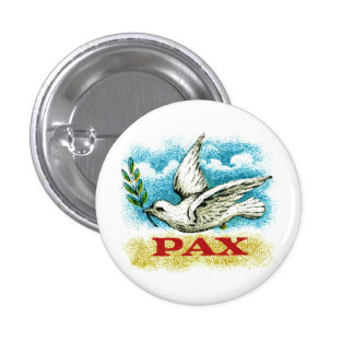 Vintage Peace on Earth Pinback Button