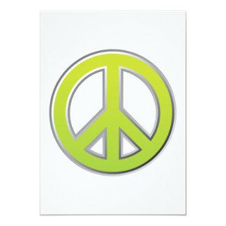 Vintage   Peace Sign Card