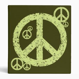 Vintage Peace Signs Binder